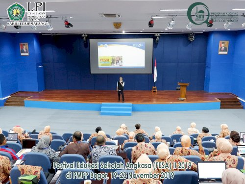 Presentasi PPDB Sekolah Angkasa Kegiatan FESA 2019