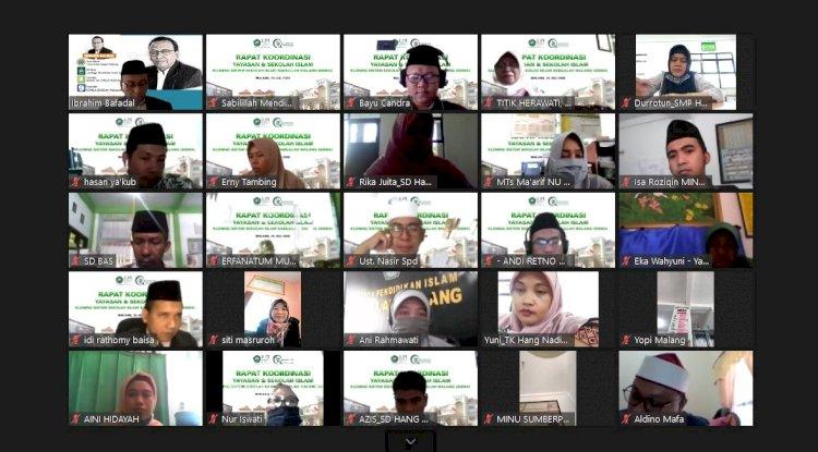 Rapat Koordinasi Daring Yayasan & Sekolah Islam Kloning Sistem SISMA
